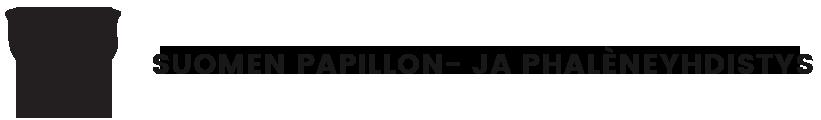 Logo: Suomen Papillon- ja Phaleneyhdistys